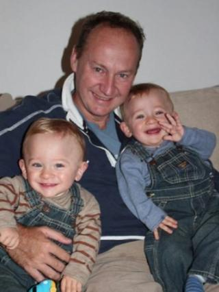 Gary Clarence and his two sons