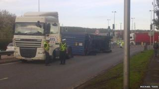 A90 lorry flip
