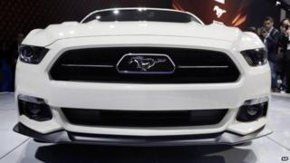 The front of the 2015 Ford Mustang 50 Year Limited Edition