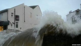 Huge waves crashed into Newlyn in February