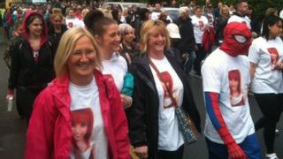 Hollie Gazzard charity walk