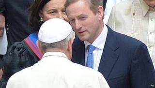 Enda Kenny meeting Pope Francis