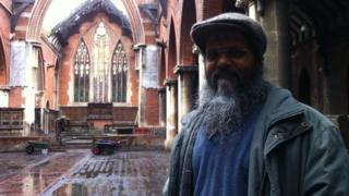 Manwar Ali at the St Michael's Church, Ipswich