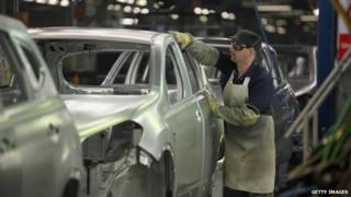 Nissan car plant worker in Sunderland