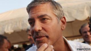 George Clooney in South Sudan in 2011