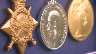 Pte Richards' medals
