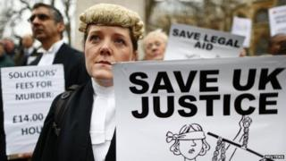 Barristers protesting