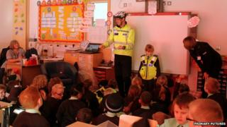 Emergency services visit classroom