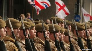 Generic shot of troops from the 2nd Battalion, The Royal Anglian Regiment