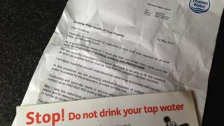 Water warning letter