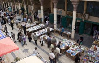 The book market in Muntanabi Street