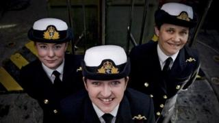 Lieutenants Maxine Stiles, Alexandra Olsson and Penny Thackray