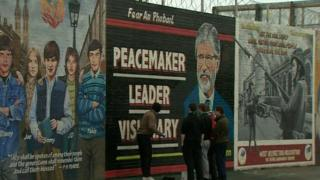 The new west Belfast mural in tribute to Gerry Adams