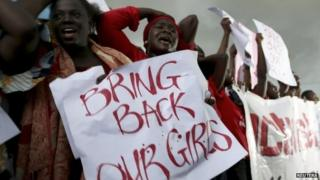 Protesters in Abuja on 30 April