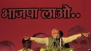 Narendra Modi is leading the BJP's poll campaign