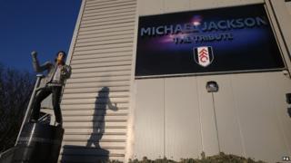 Michael Jackson statue outside Craven Cottage