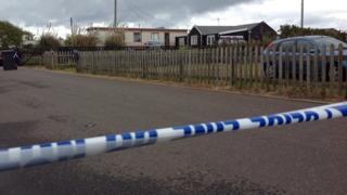 Police tape in Hemsby