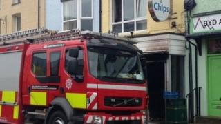Fire at fish and chip shop in Llanberis