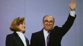 John Smith and his wife Elizabeth, pictured in 1993