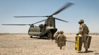 British troops at last forward base in Afghanistan