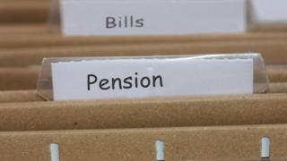 Pension folder tag