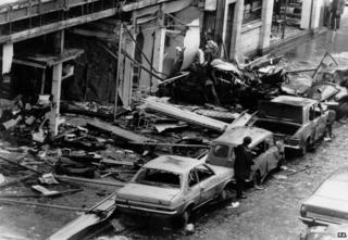 The aftermath of the Talbot Street bombing in Dublin, 17 May 1974