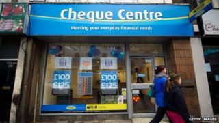 Cheque Centre branch