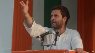 Congress vice-president Rahul Gandhi led his party's campaign in the general election