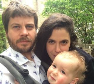 Ciarán Ó Dochartaigh, his wife Laura and son Emilio