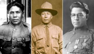 (L-R) Joseph Oklahombi, Tobias Frazier and Otis Leader