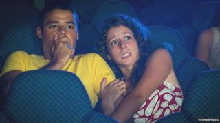 Frightened cinema goers