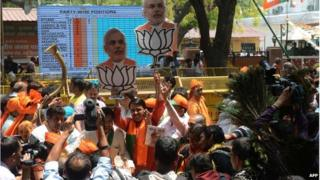 The BJP's supporters are in a celebratory mood, papers say
