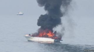 Burning cruiser (Pic: Phil Nicolle)
