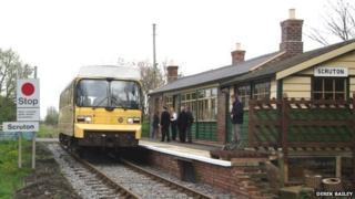 Scruton station on the Wensleydale Railway Line