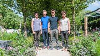 Left-right: David Rich, Hugo Bugg, Matthew Keightley, Harry Rich
