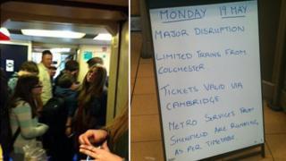 Railway disruption in East Anglia