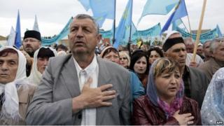 Crimean Tatar rally in Simferopol (18 May 2014)