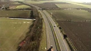 Aerial view of M11
