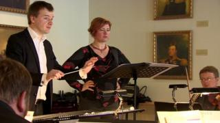 Estonian singer Iris Oja, conductor Risto Joost and Tallinn Chamber Orchestra