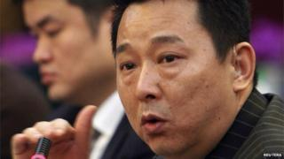 Liu Han, former chairman of Hanlong Mining, speaks during a conference in Mianyang, Sichuan province, in this file picture taken 21 March, 2008.