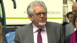 Rolf Harris arriving at court (23/5/14)