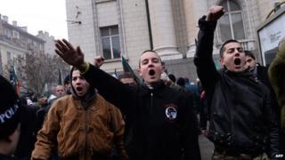 Ataka activists in Sofia,