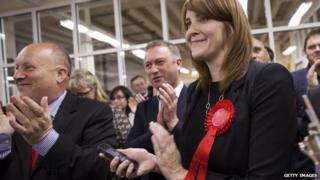 Members of the Labour Party celebrating Croydon