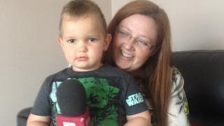 Oliver Embleton and mother Nicki