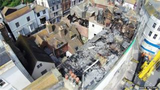 Fire damage in Hastings