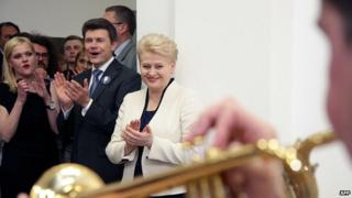 President Dalia Grybauskaite celebrates re-election. 25 May 2014