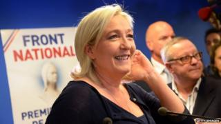 French far-right Front National (FN) party President Marine Le Pen