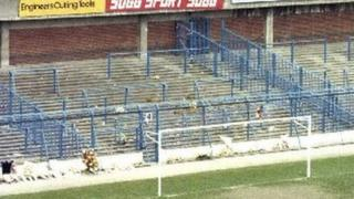 Terraces on the Leppings Lane end