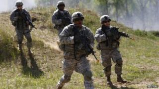 US soldiers take part in military exercises in Poland. Photo: 1 May 2014