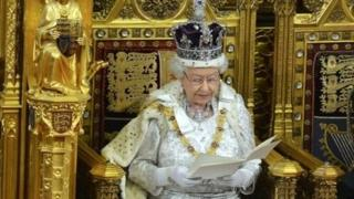 The Queen announcing the government's programme